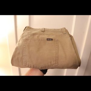 Eddie Bauer Tan 5 pocket pants - 42/32